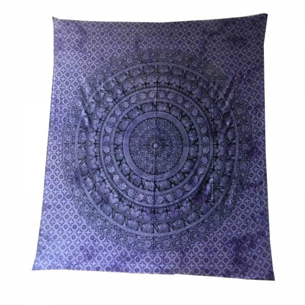 Ritualdecke - Elefanten - Rigruraji violett - Doppelt