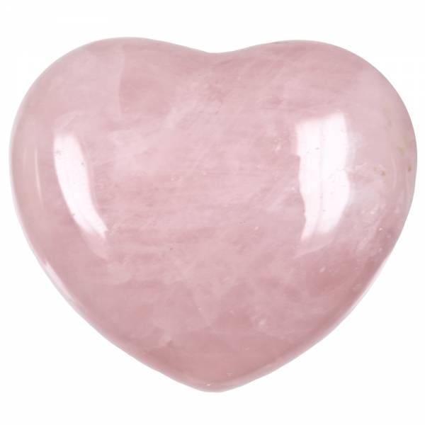 Rosenquarz-Herz - groß