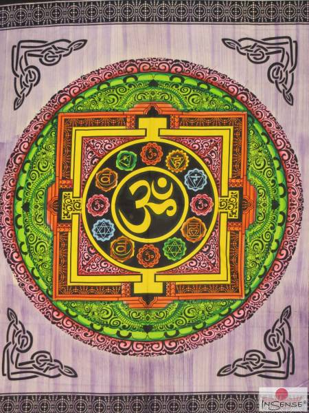 Ritualdecke - Chakra-OM purple - Doppelt