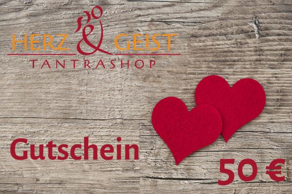 Geschenk-Gutschein - Sinnliches und SinnVolles im Wert von 50 EUR