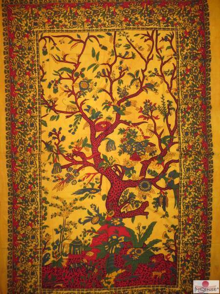 Ritualdecke - Tree of Life yellow - Normal
