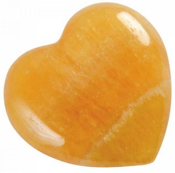 Orangen-Calcit-Herz - klein