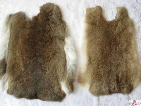 Kaninchenfell - dreifarbig-meliert (M)
