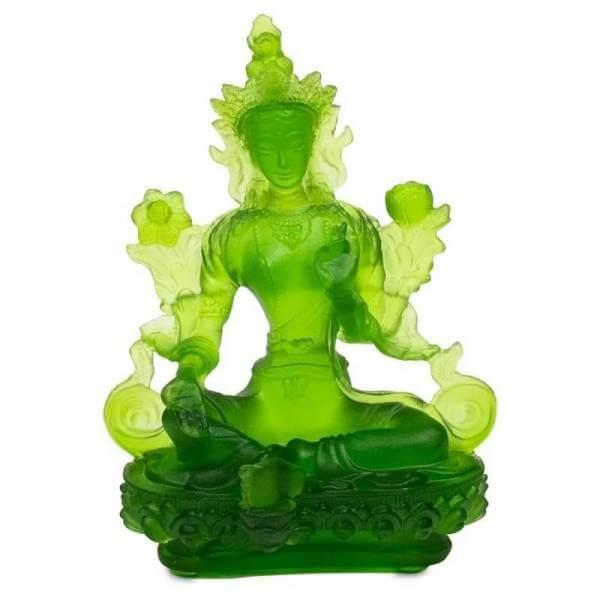 Grüne Tara transparent grün 12cm