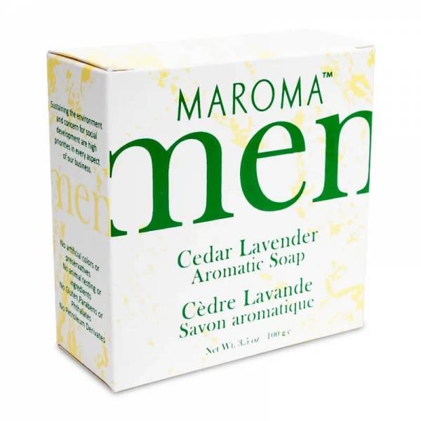 Maroma Seife für Herren Zeder Lavendel