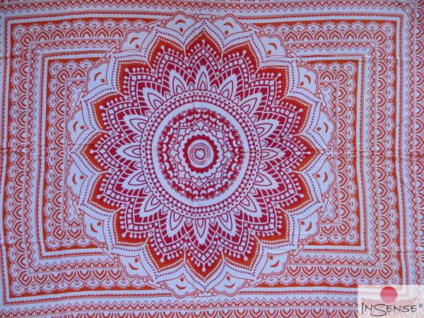 "Lunghi | Sarong ""Mandala Dream"" orange"