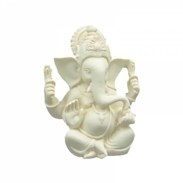 Ganesha Statue weiss 12 cm
