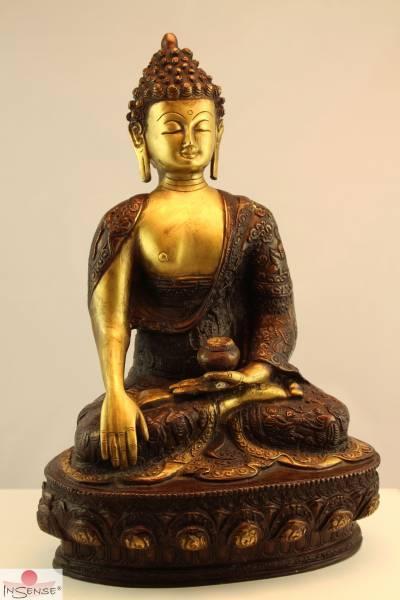 Buddha Akshobhya - Messing braun-gold