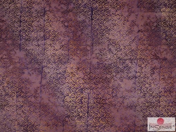 "Premium Lunghi | Sarong - ""Elegance"" violett-gold"