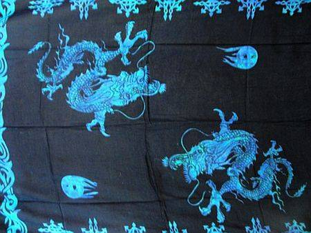 "Lunghi/Sarong ""Sea Dragon"""