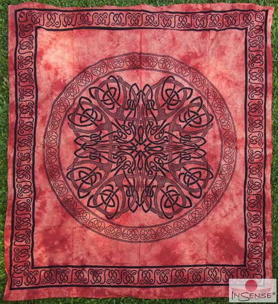 Ritualdecke - Celtic Mandala red - Doppelt I