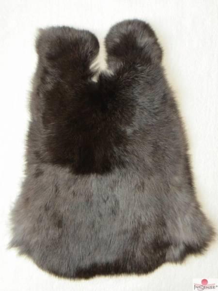 Kaninchenfell - schwarzbraun (M)