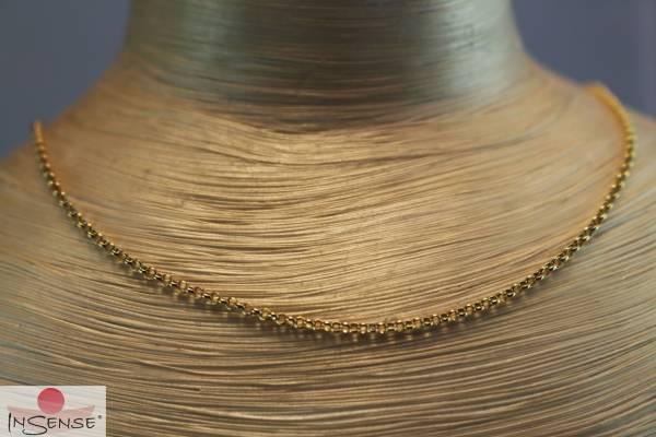 Silberkette vergoldet - 42 cm