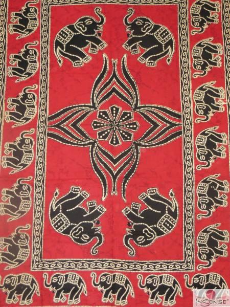 Ritualdecke - Ganesh rot - Normal