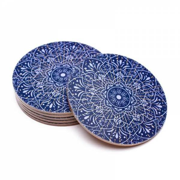 Untersetzer Mandala dunkelblau Set 6 Stück