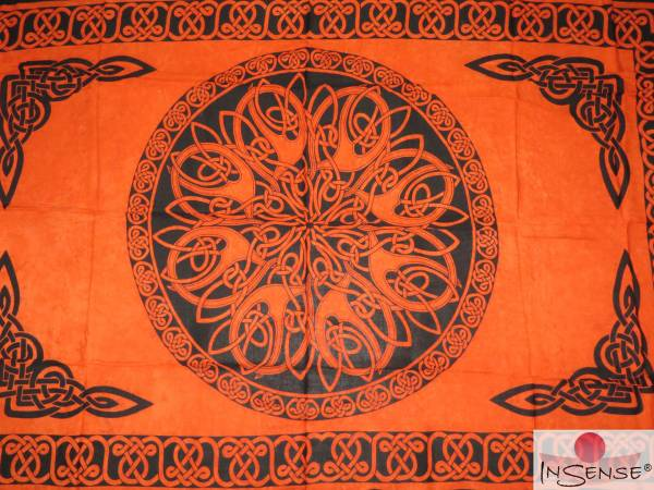 "Lunghi | Sarong ""Celtic Ornament"" terra"