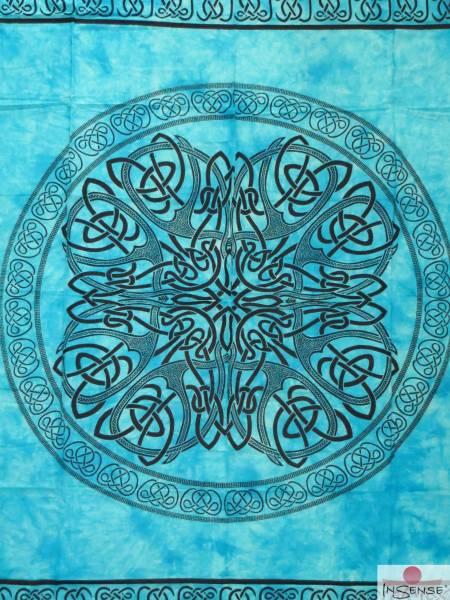 Ritualdecke - Celtic Mandala türkis - Doppelt