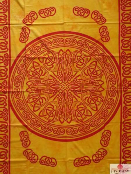 Ritualdecke - Celtic Mandala gelb - Normal