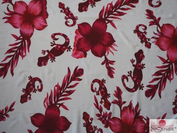 "Lunghi | Sarong ""Geckos & Flowers"" pink"