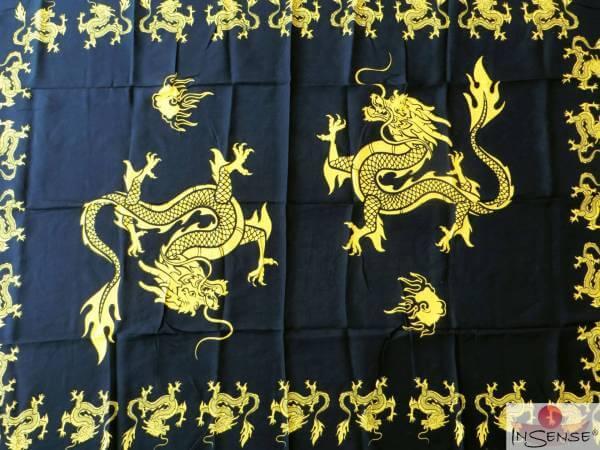 "Lunghi | Sarong ""Dragon"" - gelb"