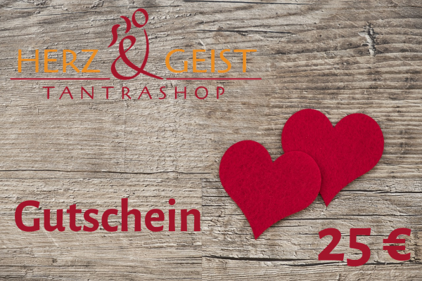 Geschenk-Gutschein - Sinnliches und SinnVolles im Wert von 25 EUR