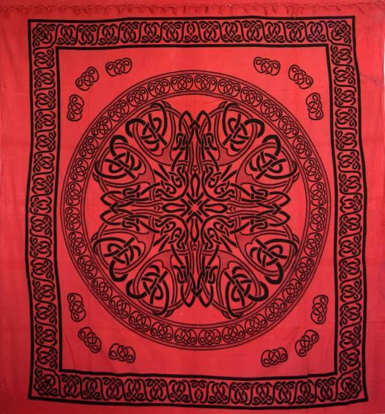 Ritualdecke - Celtic Mandala red II