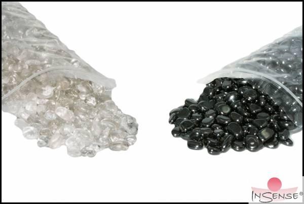Set Ladesteine - Bergkristall+Hämatit