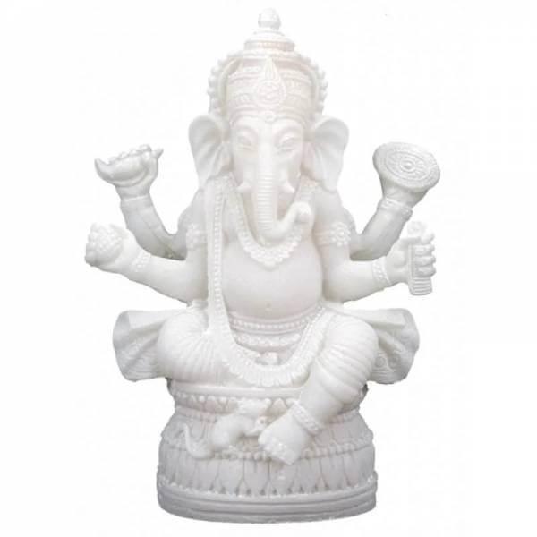 Ganesha Statue weiss 17 cm