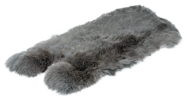 Kaninchenfell - blaugrau (L)