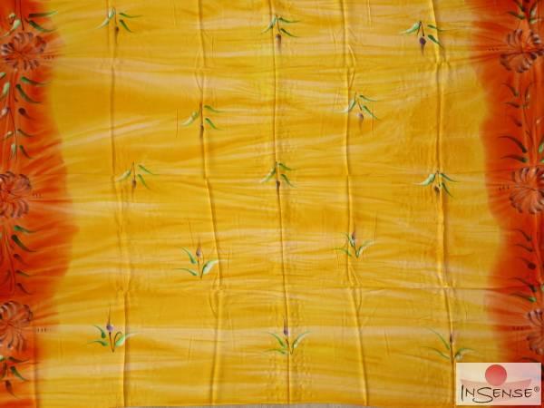 "Lunghi | Sarong ""Fleur gelb-orange"""