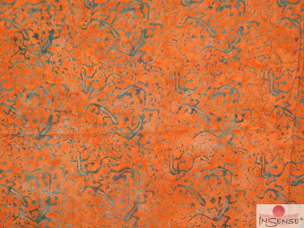 "XL Premium Lunghi | Sarong - ""Kahiki"" deep orange"