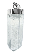 Bergkristall-Anhänger - roh m. Silberkappe