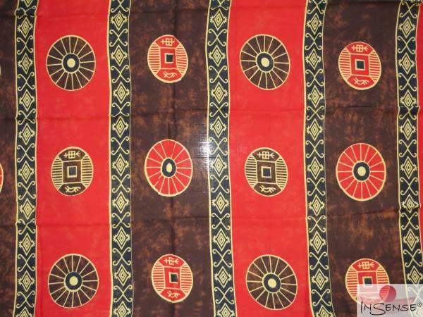"Lunghi / Sarong - ""Shamanic"" rot-braun"