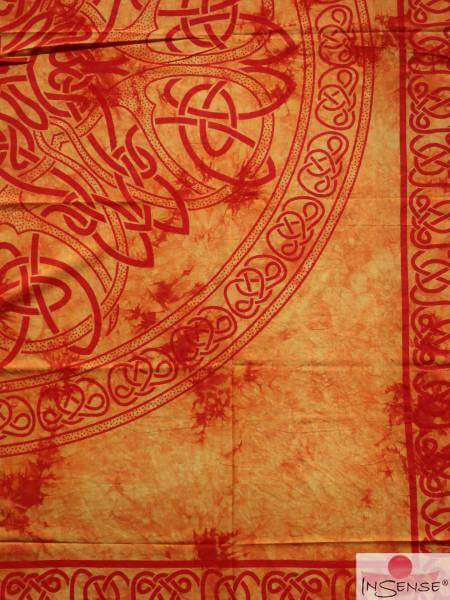Ritualdecke - Celtic Mandala orange - Doppelt