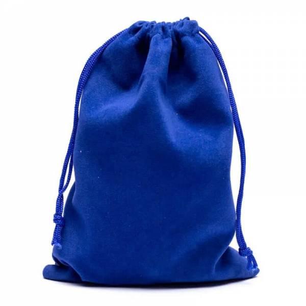 Samt-Geschenktasche blau M