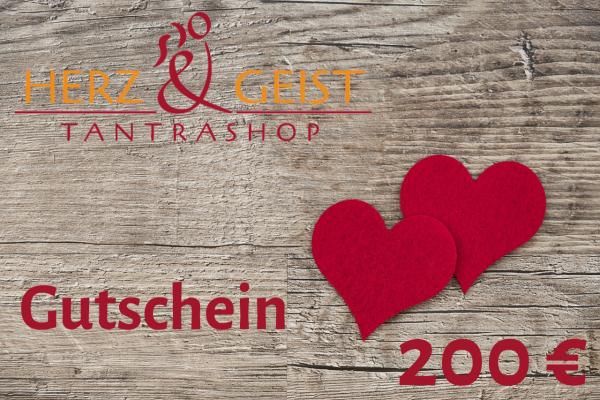 Geschenk-Gutschein - Sinnliches und SinnVolles im Wert von 200 EUR