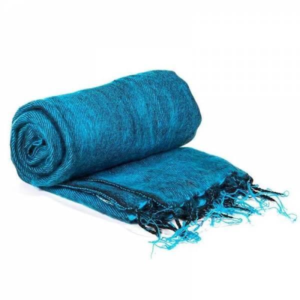 Schal für die Meditation Aqua