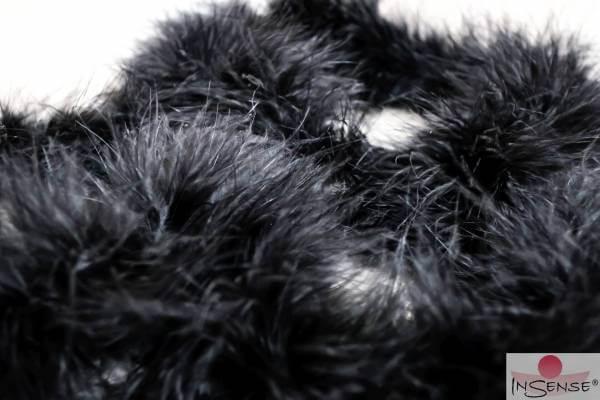 Marabubesatz - schwarz extra dicht
