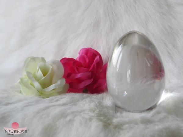 """Yoni-Ei Bergkristall - Größe """"L"""" ungebohrt"""