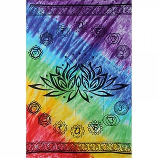 Wandteppich Lotus 7 Chakren