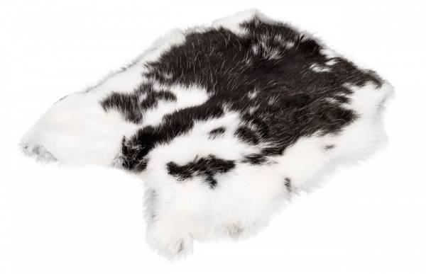 Kaninchenfell - schwarz-weiß (L)