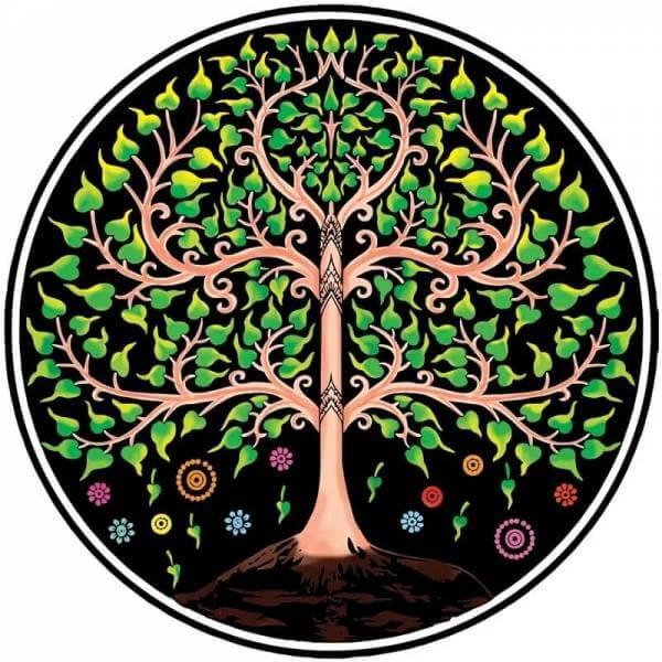 Ritualdecke Baum des Lebens - Rund