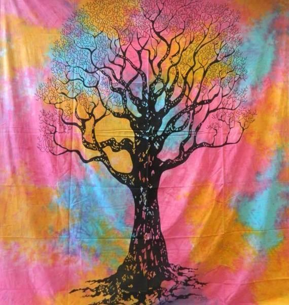 Ritualdecke - Tree of Life - Bunt - Doppelt