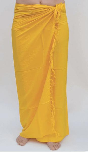 Premium Lunghi   Sarong - gelb