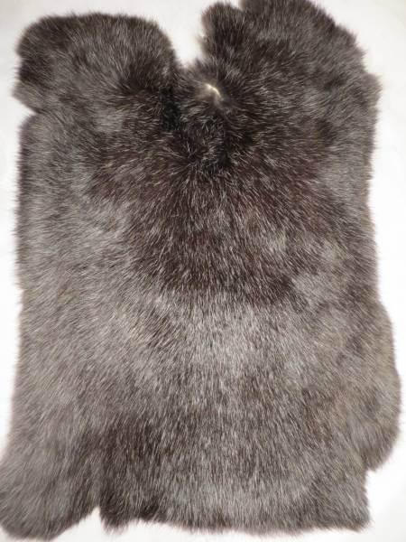Kaninchenfell - dunkel-silber (S)
