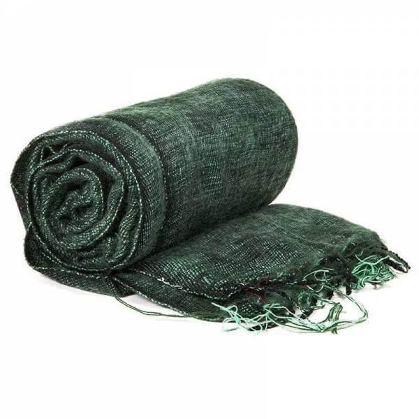 Schal für die Meditation grün