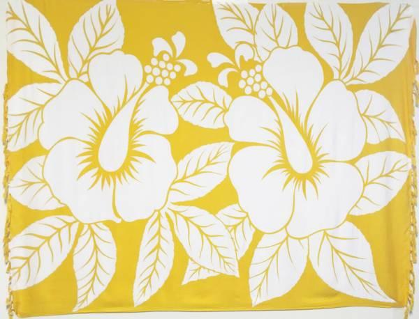 "Lunghi / Sarong ""Hibiscus"" Yellow"
