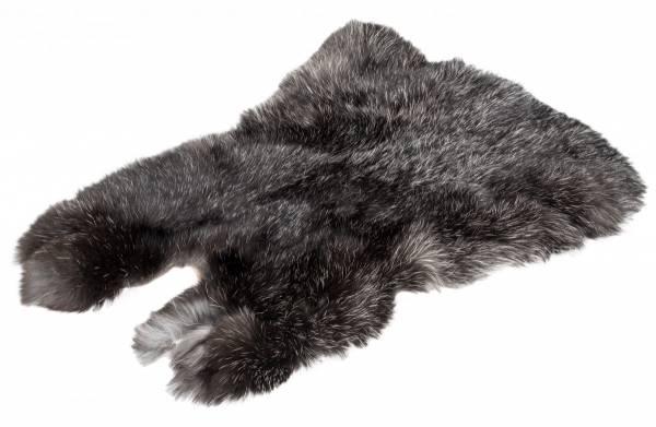 Kaninchenfell - schwarz-silber (M)