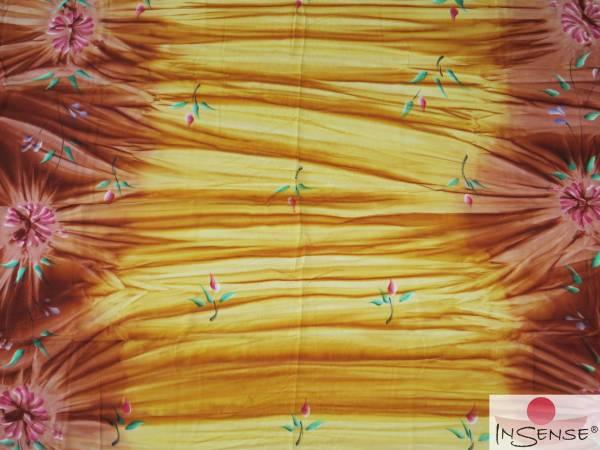 "Premium Lunghi | Sarong - ""Fleur"" bronze"