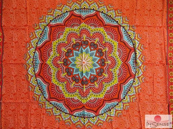 "Lunghi | Sarong ""Mandala"" orange"